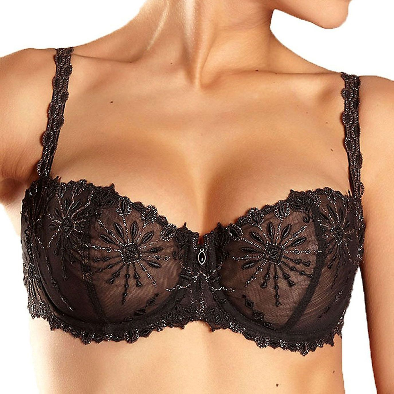 Chantelle Vendôme Lace Unlined Demi Bra