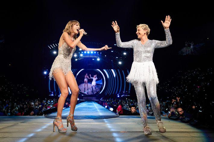 Taylor Swift and Ellen Degeneres.
