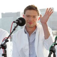 "NEW YORK, NY - May 29:  Science writer and contributer to Radio Lab, Jonah Lehrer attends the ""You and Your Irrational Brain"" panel discussion at Water Taxi Beach in Long Island City in conjunction with the World Science Festival on May 29, 2008 in New York City. (Photo by Thos Robinson/Getty Images for World Science Festival)"