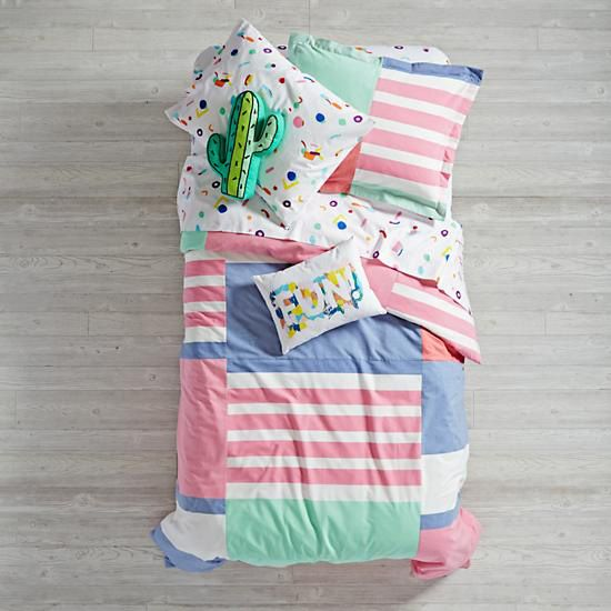 Land of Nod Color Fest Duvet Cover