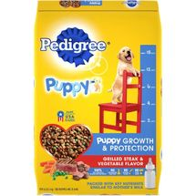 Pedigree Puppy Growth & Protection Grilled Steak & Vegetable Flavor Dry Dog Food