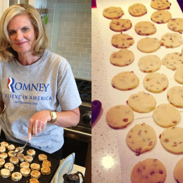 L—R: Ann Romney's <em>wrong</em> Welsh cakes; my perfectly baked right ones.