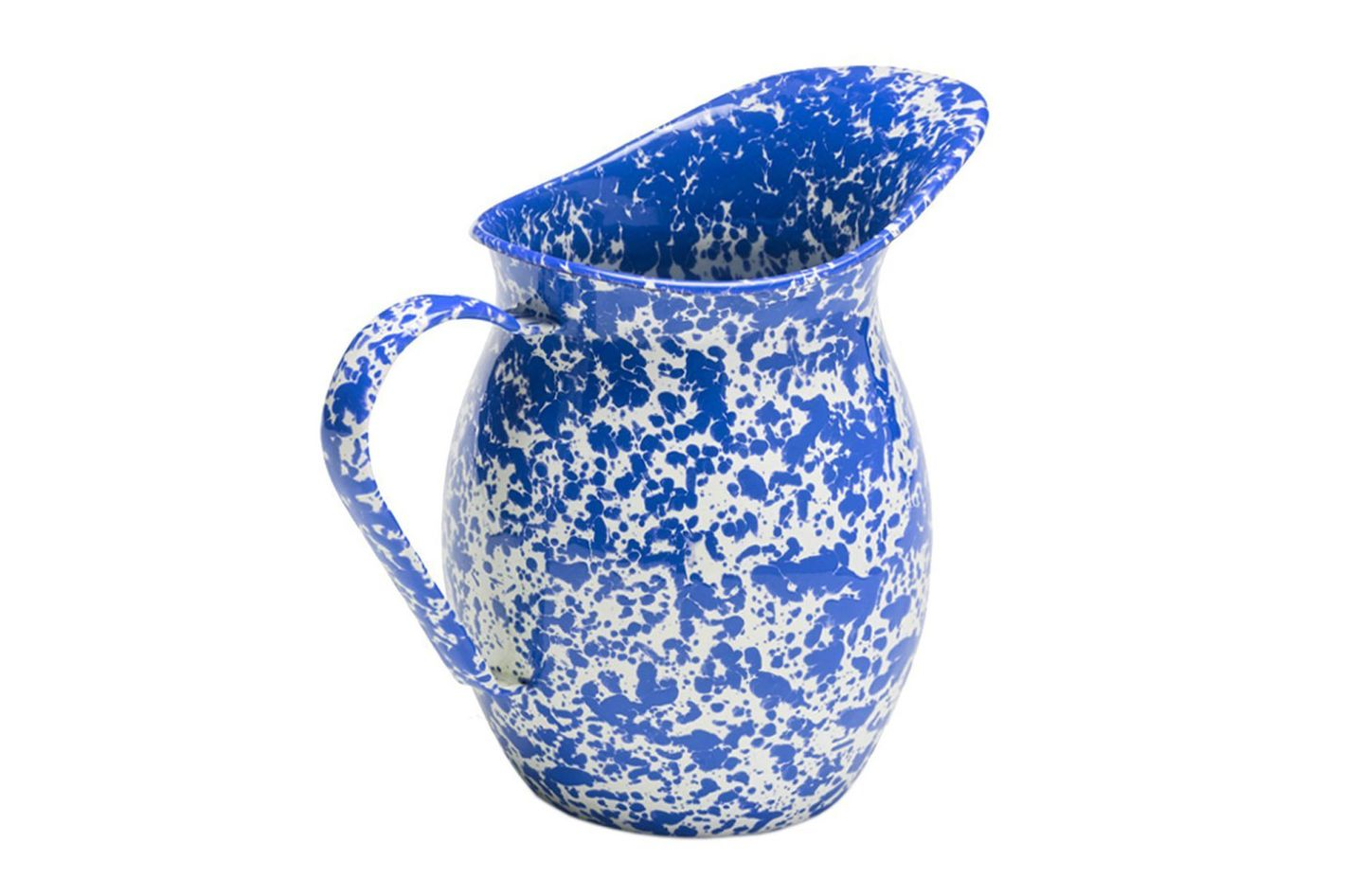 Enamelware Large Pitcher — Blue Marble