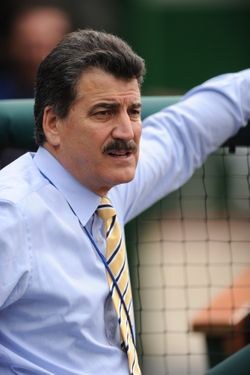 WASHINGTON, DC - APRIL 28:  Former major league baseball player Keith Hernandez of the New York Mets looks on before a game against the Washington Nationals on April 28, 2011 at Nationals Park in Washington, DC.  The Nationals won 4-3.  (Photo by Mitchell Layton/Getty Images) *** Local Caption *** Keith Hernandez;