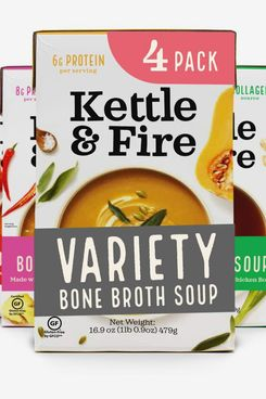 Kettle & Fire Tomato, Miso, Butternut Squash, and Thai Curry Bone-Broth-Soup Variety Pack