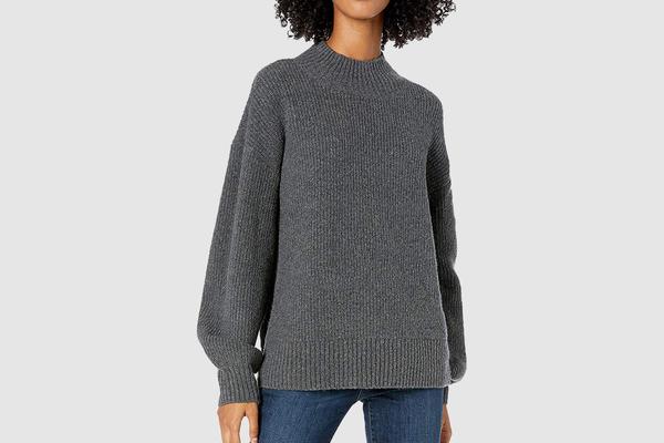 Amazon Brand - Goodthreads Women's Boucle Shaker Stitch Balloon-Sleeve Sweater