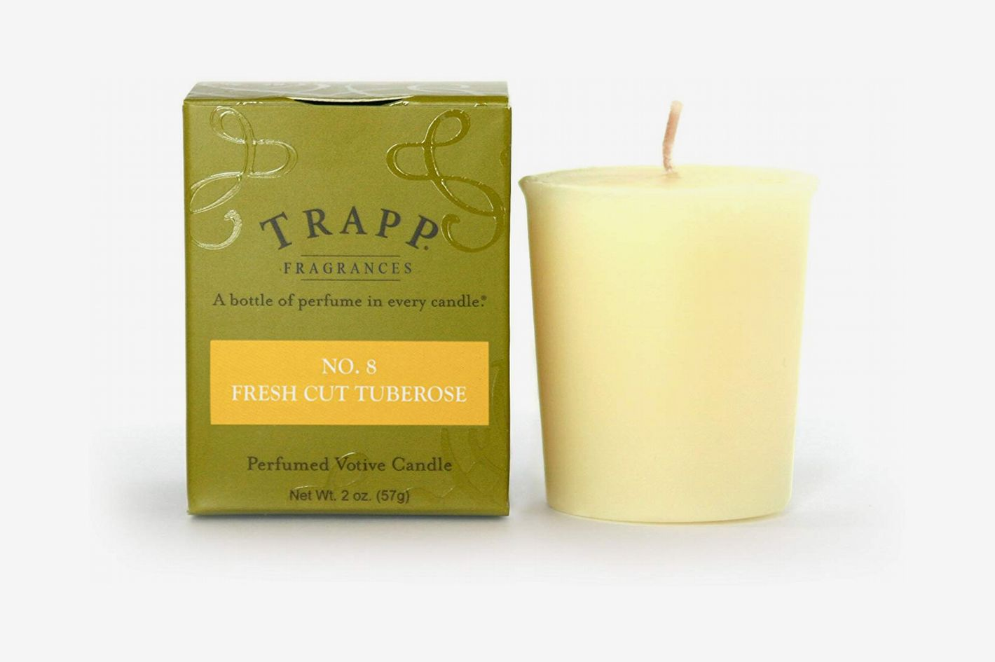 Trapp Signature Home Collection No. 8 Fresh Cut Tuberose Votive Scented Candle, Pack of 4