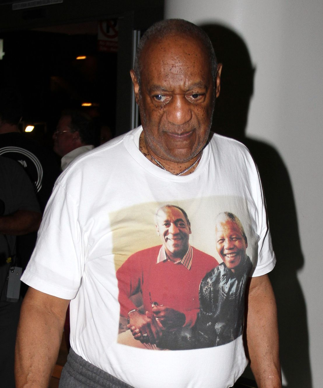 celebrities wearing their own faces on t shirts