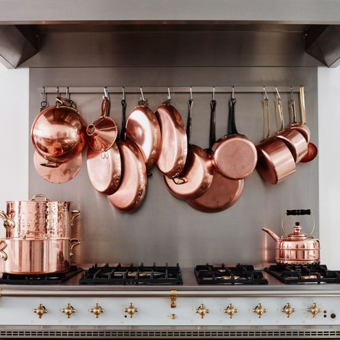 Copper Pots Hanging In The French Kitchen Of Cook S Atelier Paris Strategist