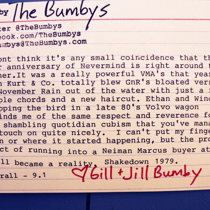 The Bumby's rating.