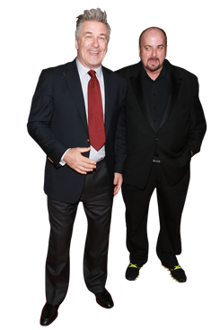 "Director James Toback and actor Alec Baldwin attend the ""Seduced And Abandoned"" New York premiere at Time Warner Center on October 24, 2013 in New York City."