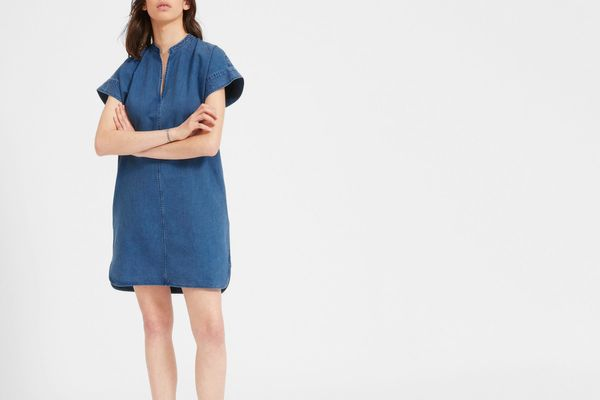 The Splitneck Jean Dress