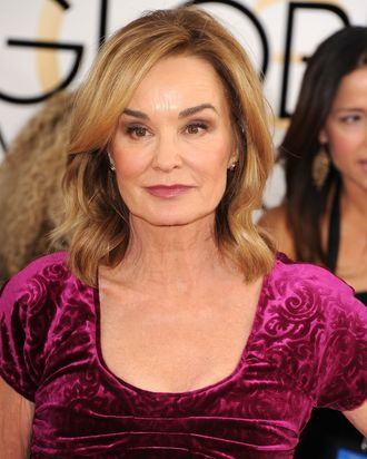 BEVERLY HILLS, CA - JANUARY 12: Jessica Lange arrives at the 71st Annual Golden Globe Awards at The Beverly Hilton Hotel on January 12, 2014 in Beverly Hills, California. (Photo by Steve Granitz/WireImage)