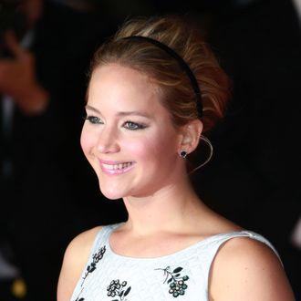 11 Nov 2014, London, England, UK --- 'The Hunger Games: Mockingjay - Part 1' film premiere Pictured: Jennifer Lawrence .