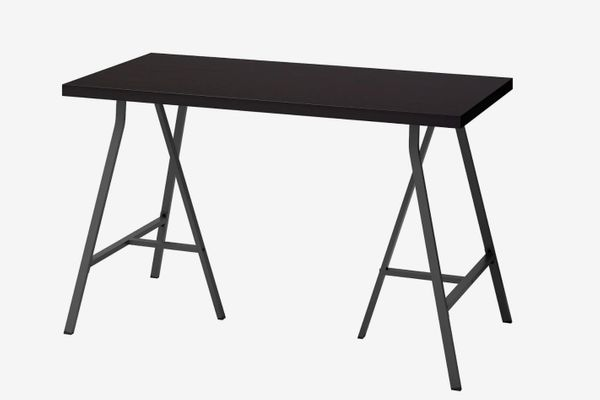 Linnmon/Lergerg Table, Black Brown
