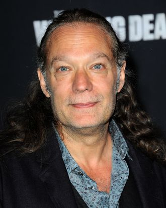 UNIVERSAL CITY, CA - OCTOBER 02: Producer/Special Effects Artist Greg Nicotero arrives for AMC Celebrates The Season 5 Premiere Of