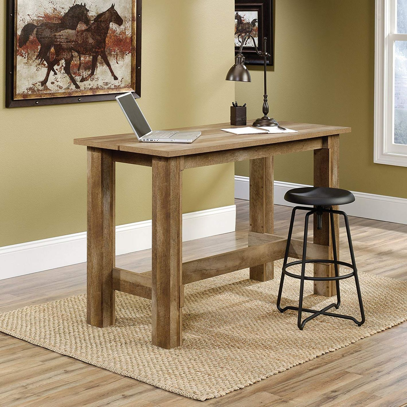 Sauder Counter Height Dining Table, Craftsman Oak