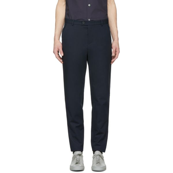 APC Navy Douglas Slim Trousers
