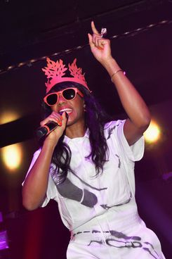 Singer-songwriter Santigold performs at Roseland Ballroom on July 11, 2013 in New York City.