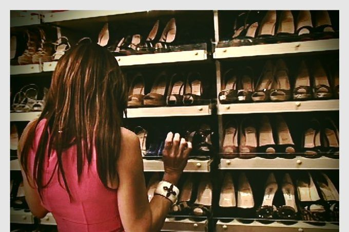 Beth Shak and her shoes.