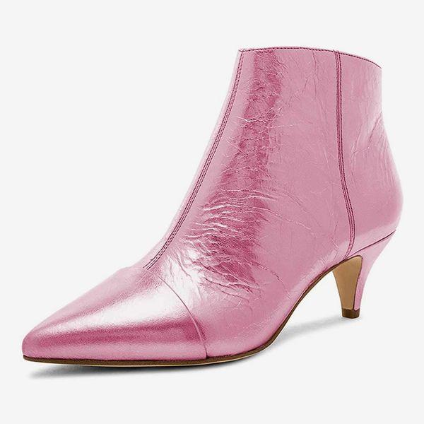 XYD Women Mid Low Kitten Heel Ankle Boots