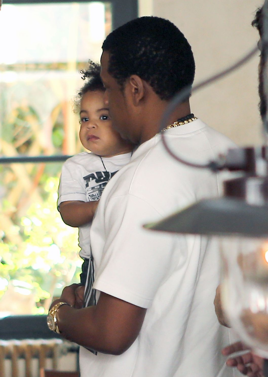 51078243 Rapper Jay Z takes his wife Beyonce Knowles and their daughter Blue Ivy to lunch at Szptime restaurant on April 25, 2013 in Paris, France. FameFlynet, Inc - Beverly Hills, CA, USA - +1 (818) 307-4813 RESTRICTIONS APPLY: USA ONLY