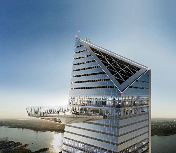 0e521ac97daa23 The Precipice  Urban adventurers will be able to strap on a harness and  climb this lattice atop 30 Hudson Yards out in the freezing wind.