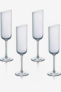 Villeroy & Boch New Moon Flute Champagne Glasses, Set of 4