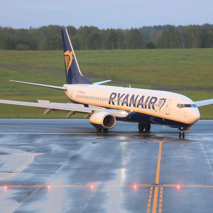 Ryanair Flight FR4978 after landing at Vilnius International Airport on Sunday night.