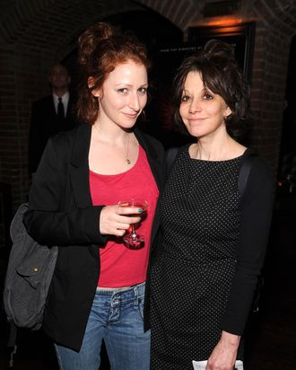Amy Heckerling (R) and guest attend