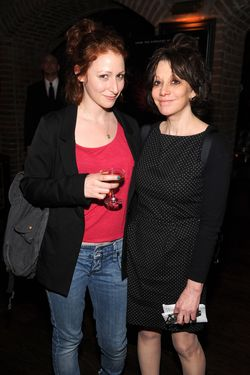 "NEW YORK, NY - APRIL 16: Amy Heckerling (R) and guest attend ""The Raven"" New York Red Carpet Screening After Party Presented By DeLeon Tequila at The VAULT on April 16, 2012 in New York City.  (Photo by Dimitrios Kambouris/Getty Images For Relativity Media)"