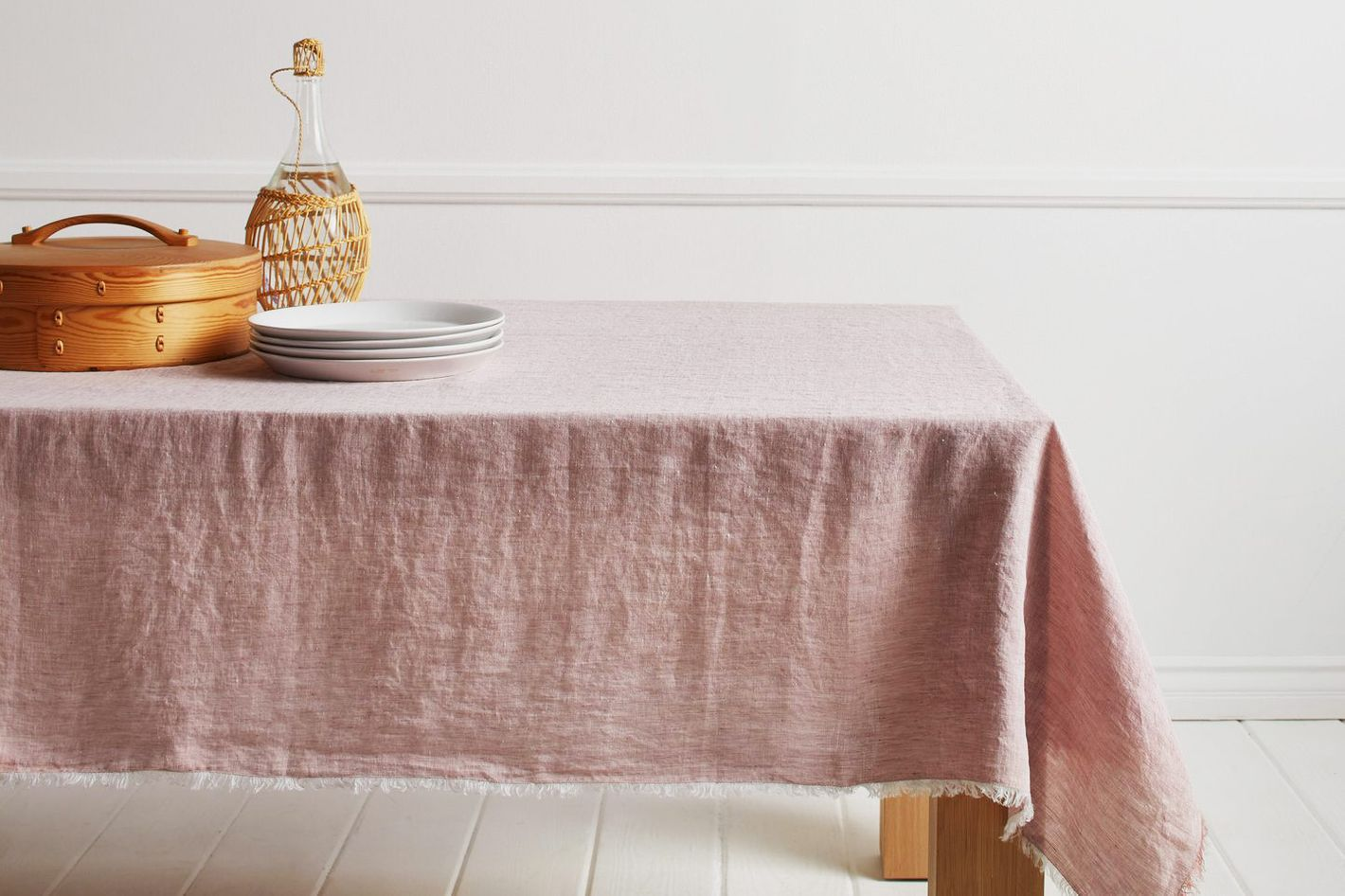 Chambray Fringe Tablecloth