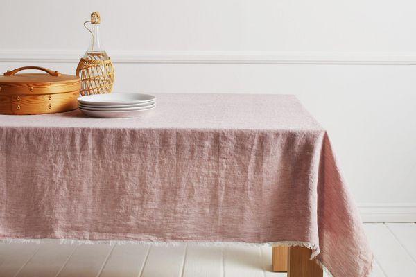 Chambray Fringe Tablecloth