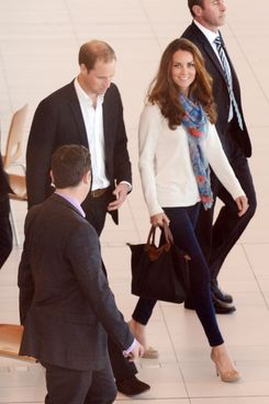 Kate Middleton, in jeggings.