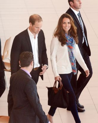 Kate Middleton, in jeggings.
