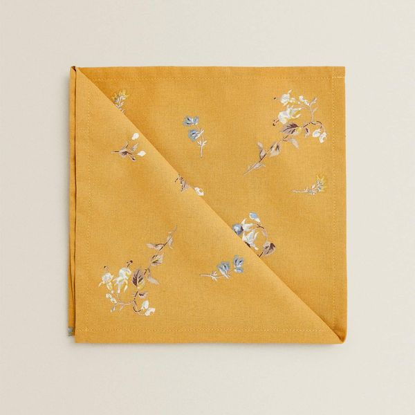 Zara Home Floral Napkins, Set of 2