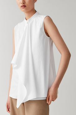 COS Draped Sleeveless Shirt