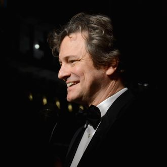 Actor Colin Firth attends the 2012 Dubai International Film Festival, Dubai Cares and Oxfam