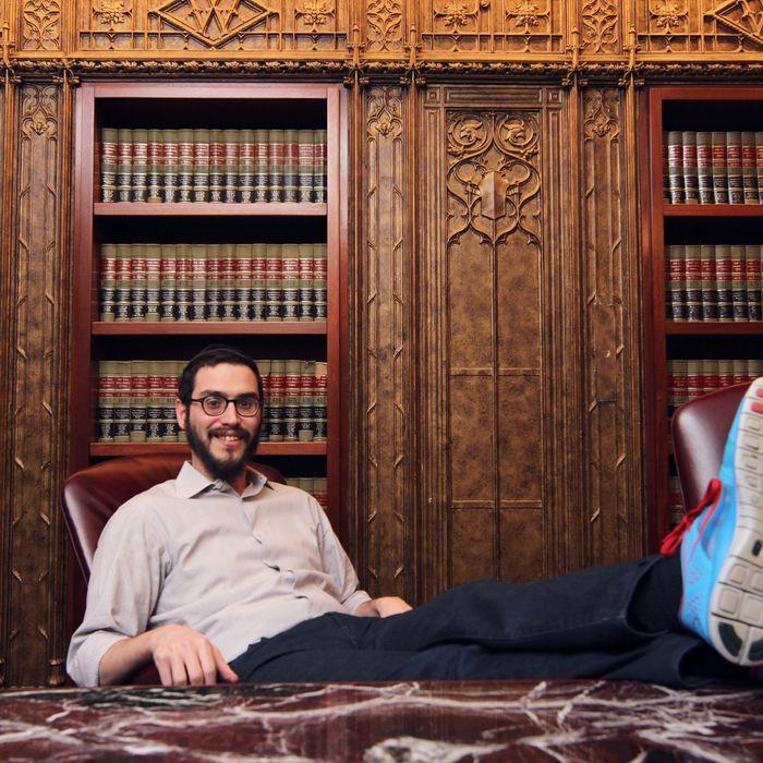 Maimon Kirschenbaum, at his office.