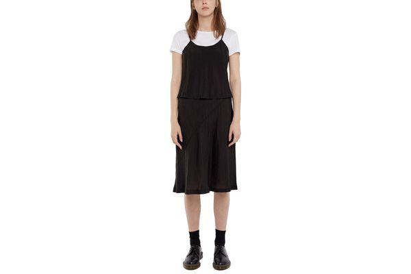 Comme des Garçons Crinkled Strappy Overlay Dress