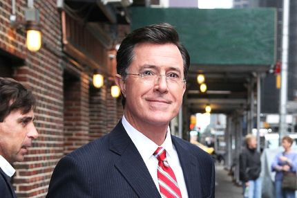 Stephen Colbert arrives at 'The Late Show with David Letterman'.Stephen Colbert arrives at 'The Late Show with David Letterman'. <P> Pictured: Stephen Colbert <P> <B>Ref: SPL388163  030512  </B><BR/> Picture by: ???? Kyle Blair / Splash News<BR/> </P><P> <B>Splash News and Pictures</B><BR/> Los Angeles:310-821-2666<BR/> New York:212-619-2666<BR/> London:870-934-2666<BR/> photodesk@splashnews.com<BR/> </P>