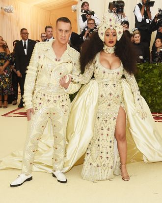 Jeremy Scott and Cardi B.