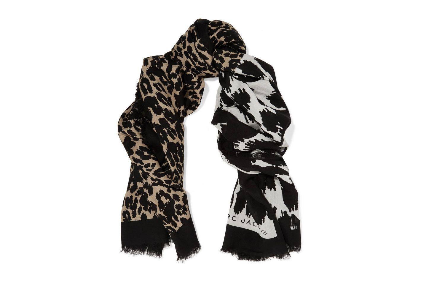 Marc Jacobs Leopard-Print Voile Scarf