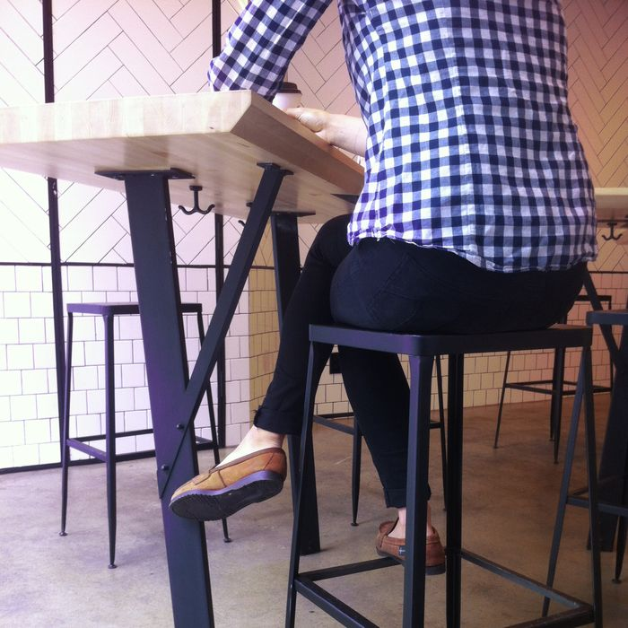 A real seat at the sandwich shop. Not Photoshopped!