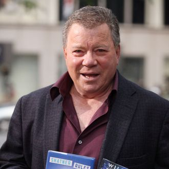 NEW YORK, NY - OCTOBER 06: William Shatner visits FOX Business at FOX Studios on October 6, 2011 in New York City. (Photo by Astrid Stawiarz/Getty Images)
