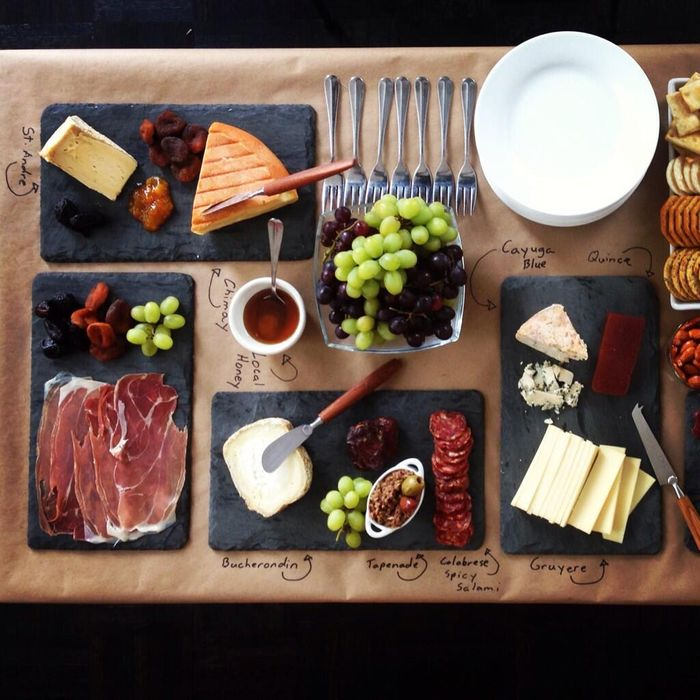 A cheese and charcuterie spread from Saucy by Nature.