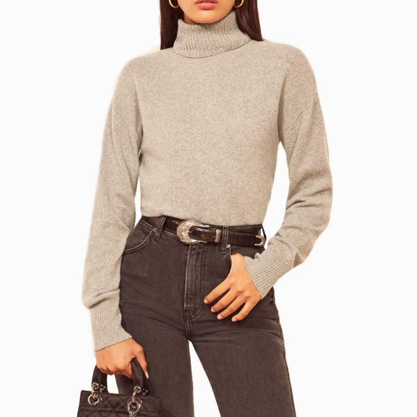 Reformation Turtleneck Organic Cotton Sweater
