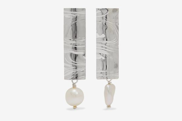 Leigh Miller Silver and Pearl Earrings