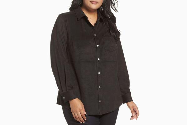 Foxcroft Jena Faux Suede Shirt