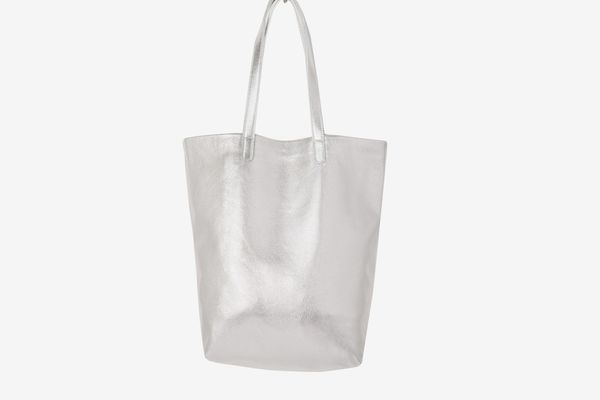 7 For All Mankind Baggu Basic Tote In Silver